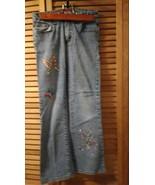 Arizona blue jeans size 10 girls waist 25 inseam 25 butterfly designs - $1.95