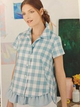 Simplicity Sewing Pattern 8090 Ladies Misses Shirt Pullover Top Size 14-22 UC - $16.02