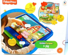 Fisher-Price Little People I-Jig Interactive Electronic Puzzle System NEW ! - $19.33