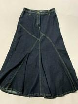 Motto Your Style Mantra 6 Denim Maxi Skirt Modest No Slit QVC Womens - $24.99