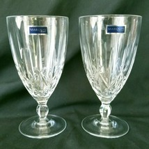Waterford Marquis Crystal Sparkle Pattern Iced Tea Glasses Goblets Set of 2 - $56.00