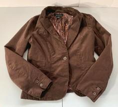 Calvin Klein Jeans Brown Corduroy Blazer Jacket Womens Size Medium 1 Button - $17.59