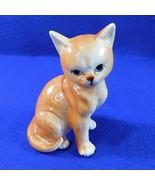 "Small Yellow Tabby Cat Figurine 4"" - $9.50"