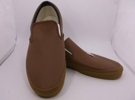 Vans Off The Wall Mens Sz 16M Brown Tan Slip On Loafers Shoes With Tag Lknw - $24.99