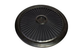 HIGH FLOW REPLACEMENT AIR CLEANER ASSEMBLY W/ FLOW-THRU LID AIR FILTER BLACK image 7