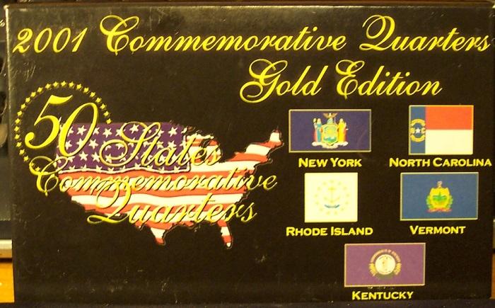 2001 Commemorative US Quarters Gold Set #G054 - $15.99