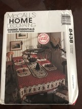 Tablecloth Sewing Pattern McCalls 8438 Dining Essentials Placemats Uncut VTNS - $3.96