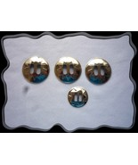 Conchos Western Silver Round Double Slotted 4 Pieces - $2.50