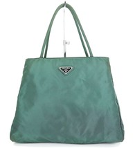 Authentic PRADA Green Nylon Tote Hand Bag Purse #33121B - $189.00