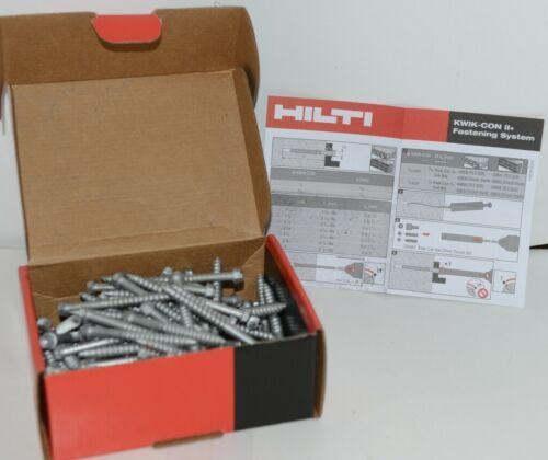 Hilti 433023 KwikCon II PLUS 1/4in x 2-3/4in Torx HexHead Concrete Screws 100 pc