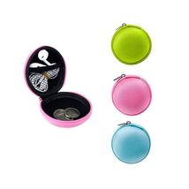 1 Pc Round Zipper Pouch Key Ring Chain Case Mini Purse Coin Change Walle... - $32.00