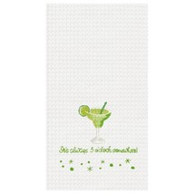 IT'S ALWAYS 5 OCLOCK SOMEWHERE Waffle Kitchen or Bar Towel 100% Cotton 1... - $9.95