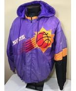 VTG Phoenix Suns Jacket Men's Large Hood Winter Coat NBA Apex One 90's - $57.79
