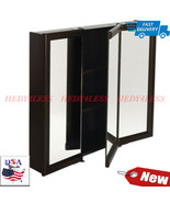 "30W x 26"" Surface Mount Tri-View Wood Mirrored Medicine Cabinet Espresso Finish - $104.89"