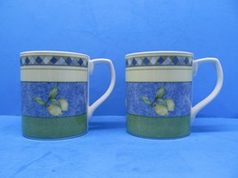 "Royal Doulton Carmina 3 5/8"" Lemons Coffee Mugs Set Of 2 Mugs GUC - $15.68"