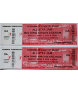 2 Academy of Country Music All Star Jam MGM Grand April 3 2016 Ticket St... - $5.95