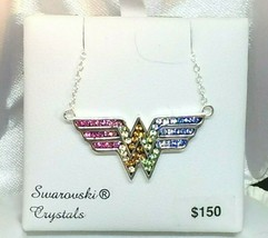 Swarovski Crystal WONDER WOMAN Necklace~NWT - $114.00