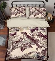 3D Bird Pattern Bed Pillowcases Quilt Duvet Cover Set Single Queen King ... - $90.04+