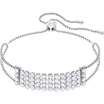 Authentic Swarovski Fit White Crystal Bracelet, Stainless Steel - $74.05