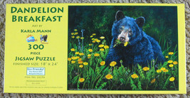 Dandelion Breakfast SunsOut 300 Piece Jigsaw Puzzle Karla Mann Complete - $6.50