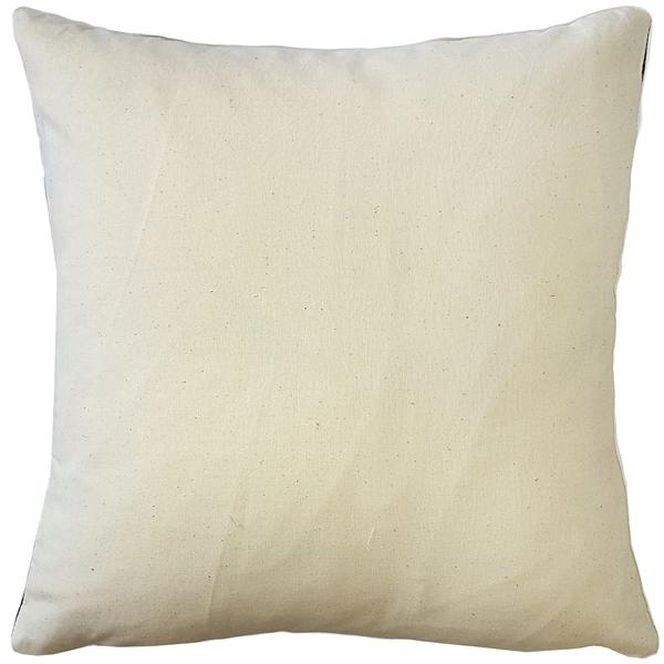 Pillow Decor - Ikat Stripes Black and Cream Throw Pillow 17x17