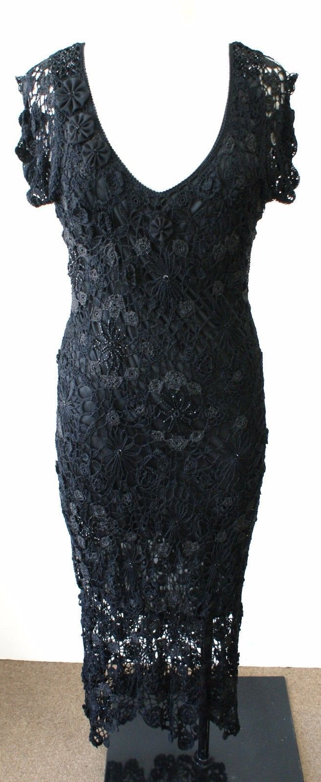 21484fe95a Ralph Lauren Black Label Black Crochet and 50 similar items. 57