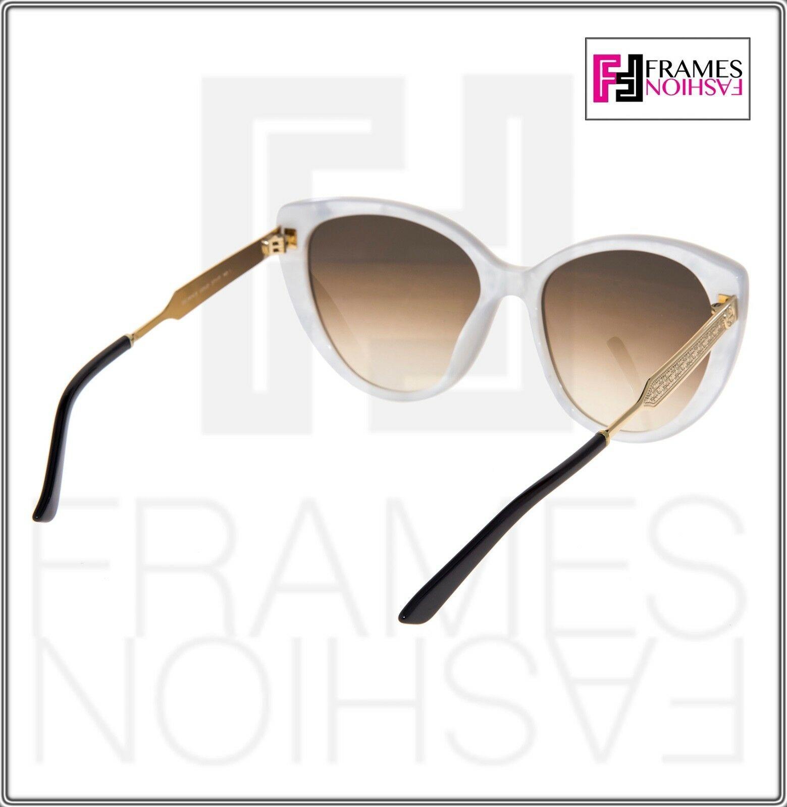 5e28dbbf9c4 GUCCI GG3804S DAMASCATO Mother of Pearl Gold White Cat Eye Sunglasses 3804
