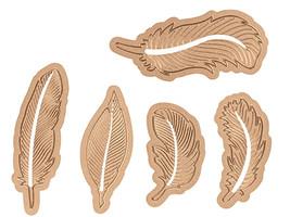 Spellbinders Shapeabilities Etched Feathers Dies #S4-428 image 1