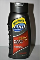 Set of (3) Dial for Men Ultimate Clean Hair + Body Wash, 20 oz Each - $19.44