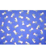 Oakhurst Textiles White Angels Blue Cotton Vintage Fabric Quilt Craft  - $15.99