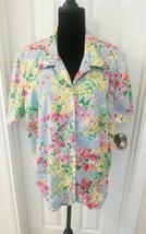 Koret Women Size 20w Floral Button Shirt  - $11.88