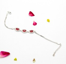 925-Sterling-Silver Cubic Zircon Chain Bracelets Fine Jewelry 6.7 Gm Fr... - $24.50