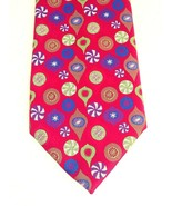 Hallmark Christmas Holiday Tradition Tie by MMG Red Multicolor Ornaments... - $24.14