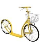 "20"" Adult  BRIGHT YELLOW KICK SCOOTER  Amish Bike w/ Basket & Brakes USA... - $309.67"