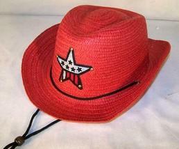 6 PC RED COLOR COWBOY HAT W  USA STAR child headwear childrens BOY cowgi... - $18.04