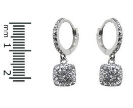 DAINTY-CHILDREN-BABIES Clear Cubic Zirconia Halo Charm Huggie Earrings - $24.74