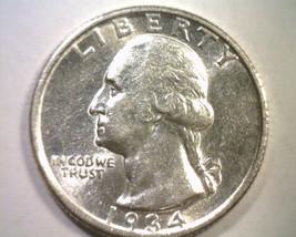1934 WASHINGTON QUARTER CHOICE ABOUT UNCIRCULATED CH. AU NICE ORIGINAL COIN - $19.00