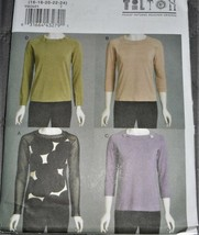 Pattern Vogue Designer Pullover Top Fitted March Tilton V8636 Uncut - $19.78
