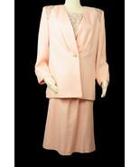 Vtg NWT Nolan Miller Pink Beaded Sequin Women's Blazer,Skirt and Camisol... - $72.75