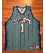 Authentic Champion 2001 Charlotte Hornets Baron Davis Teal Road Away Jer... - $499.99