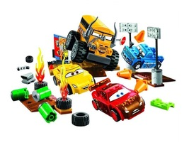 Cars 3 Lightning Juniors Smokey's Garage building blocks compatible with... - $40.90