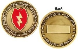 U.S. ARMY 25TH INFANTRY DIVISION CHALLENGE COIN - $14.89