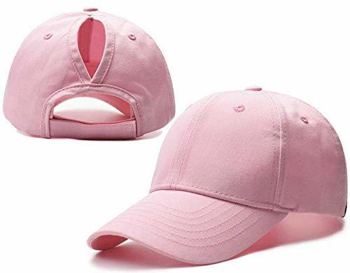 Ponytail Pink Adjustable Womens Baseball Cap Hat - USA Seller