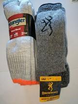 2pair RedHead & 2 FREE Wrangle Brand Finest Merino Wool Blend Socks,USA,... - $39.59