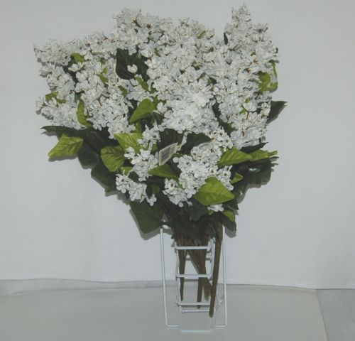 Teters CRM50066 Cream Lilac Bush 24 Inches 13 Stems Each Lot of 6