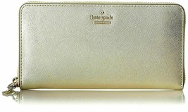 Kate Spade New York Cameron Street Lacey Gold Leather Women's Wallet - New! - $107.90