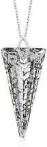 Nirano Collection Black Spike 925Silver Pendant Made with Swarovski Crys... - $138.08
