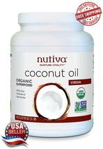 Nutiva Organic Cold-Pressed Virgin Coconut Oil, 54 Ounce Non-GMO Free Sh... - $27.67