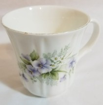 Duchess bone china Purple Flowers Teacup Cup - $9.89