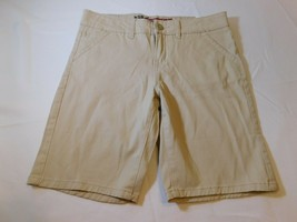 """Justice Girl's Youth Size 10 1/2 Shorts Khaki Tan 636 8.5"""" inseam School NWT - $21.37"""
